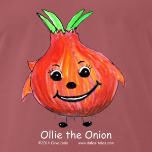 Mens purple T-shirt Ollie the onion - Men's Premium T-Shirt