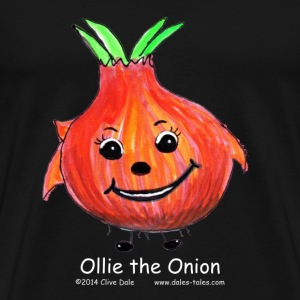 mens black T-shirt Ollie the Onion - Men's Premium T-Shirt