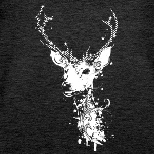 A white deer head Tops - Women's Premium Tank Top