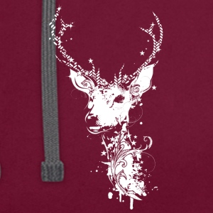 Une tête de cerf Sweat-shirts - Sweat-shirt contraste
