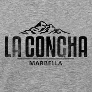 La Concha Faded Black Vintage Logo - Men's Premium T-Shirt