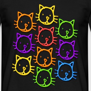 Chats neon - T-shirt Homme