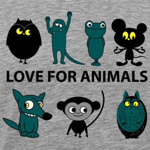 love for animals - Maglietta Premium da uomo