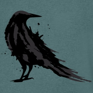 A black raven T-Shirts - Men's V-Neck T-Shirt
