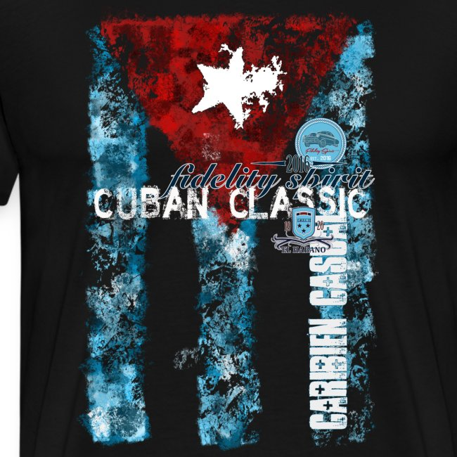 Cuban Classic Flag Stamped