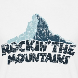 Rockin' the Mountains (Vintage/Dunkel) T-Shirt - Männer T-Shirt