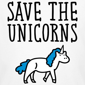 Save The Unicorns Camisetas - Camiseta ecológica hombre