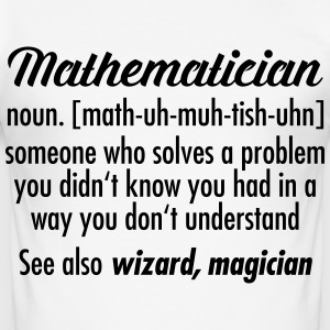Mathematician - Definition T-Shirts - Männer Slim Fit T-Shirt