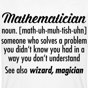 Mathematician - Definition T-Shirts - Männer Bio-T-Shirt