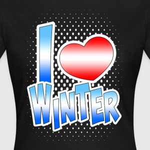 I love Winter T-Shirts - Frauen T-Shirt