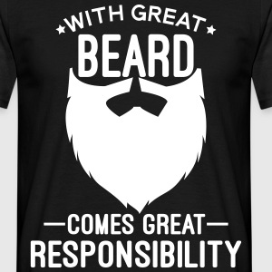 With Great Beard T-Shirts - Men's T-Shirt