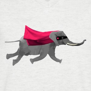 Flying elephant T-Shirts - Men's V-Neck T-Shirt