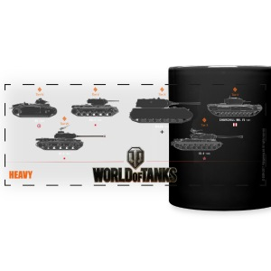 World of Tanks Heavy - Taza panorámica de colores