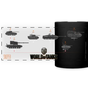 World of Tanks Sniper - Kolorowy kubek panoramiczny