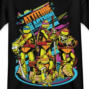 TMNT Turtles Attitude For Action - Teenager T-Shirt