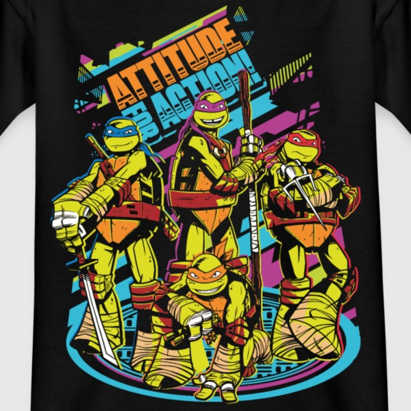 TMNT Turtles Attitude For Action - T-shirt tonåring