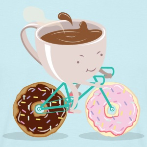 Donut Coffee Bicycle T-shirts - Mannen T-shirt