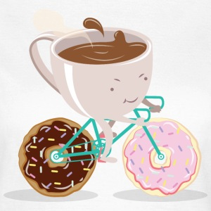 Donut Coffee Bicycle T-Shirts - Women's T-Shirt