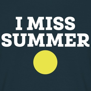 I Miss Summer T-shirts - Herre-T-shirt