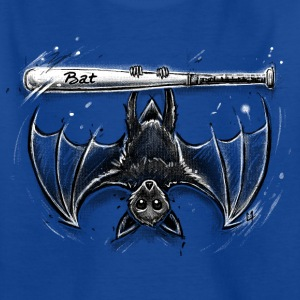 Bleu royal bat Tee shirts - T-shirt Ado