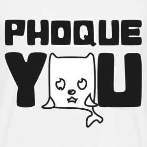 T shirt blanc homme Humour Fuck you Phoque you - T-shirt Homme
