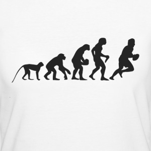 Evolution Football T-Shirts - Frauen Bio-T-Shirt