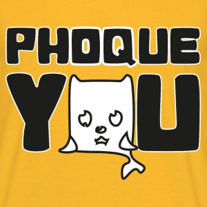 T shirt jaune homme Humour Fuck you Phoque you - T-shirt Homme