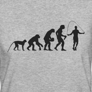 Evolution Seilspringen T-Shirts - Frauen Bio-T-Shirt