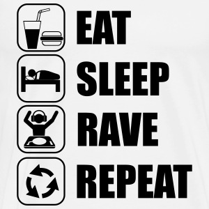 Eat,sleep,rave,repeat - Koszulka męska Premium