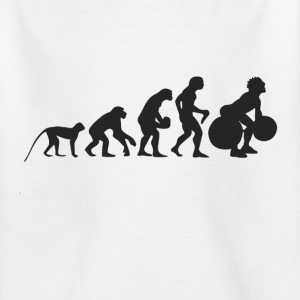 Evolution of weight lifting Shirts - Teenage T-shirt