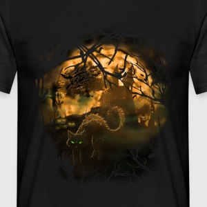 halloween_1layer-black_bo T-Shirts - Männer T-Shirt