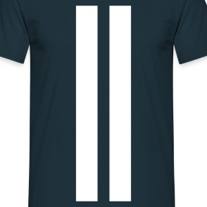 Marineblå Racing stripes T-shirts - Herre-T-shirt