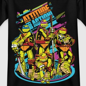 TMNT Turtles Attitude For Action - Kinderen T-shirt