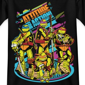 TMNT Turtles Attitude For Action - Camiseta niño