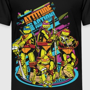 TMNT Turtles Attitude For Action - Camiseta premium niño
