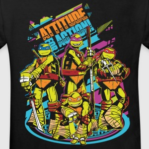 TMNT Turtles Attitude For Action - Organic børne shirt