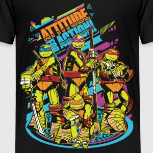 TMNT Turtles Attitude For Action - Camiseta premium adolescente