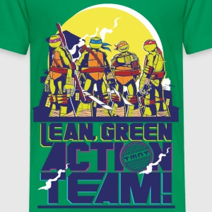 TMNT Turtles Lean Green Action Team - Maglietta Premium per bambini
