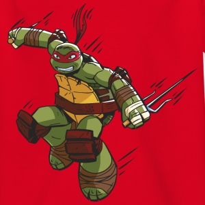 TMNT Turtles Raphael Greift An - Kinder T-Shirt