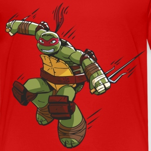 TMNT Turtles Raphael Ready For Action - Premium-T-shirt barn