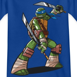 TMNT Turtles Leonardo Ready For Action - Teenager T-shirt