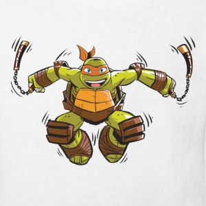 TMNT Turtles Michelangelo Springt - Kinder Bio-T-Shirt
