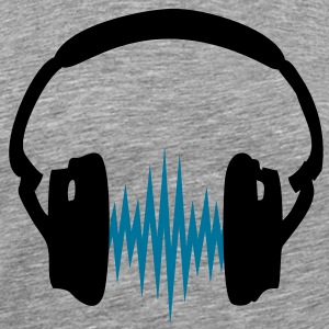 Headphone,Kopfhörer, Musik,Welle,Audio,Frequenz,2c T-shirts - Mannen Premium T-shirt