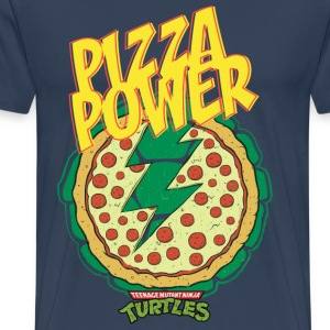 TMNT Turtles Pizza Power Shield - Camiseta premium hombre