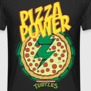 TMNT Turtles Pizza Power Shield - Camiseta urbana para hombre