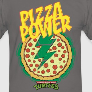 TMNT Turtles Pizza Power Shield - Men's Ringer Shirt