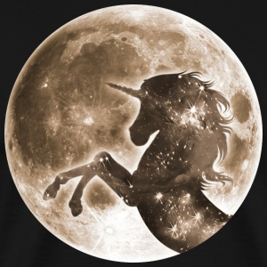 Unicorn full moon, galaxy, space, horse, fantasy T - Men's Premium T-Shirt