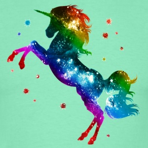 Unicorn rainbow, galaxy, space, gay, fantasy T-Shirts - Männer T-Shirt