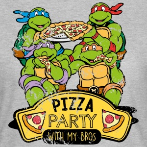 TMNT Turtles Pizza Party With My Bros - Camiseta mujer