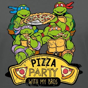 TMNT Turtles Pizza Party With My Bros - Vrouwen T-shirt met V-hals